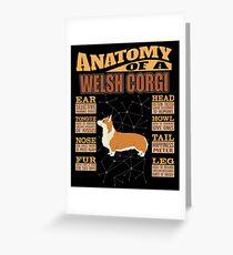 Anatomy Of A Pembroke Welsh Corgi - Funny Pembroke Welsh Corgi Design Grußkarte