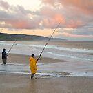 Ocean Fishing, Apollo Bay, Victoria. by johnrf