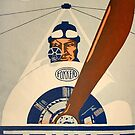 WWI Fokker Airplane Factory Advertisement Poster by edsimoneit