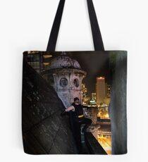 A batmanesque caped crusader Tote Bag
