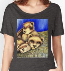 Ferret Layer cake  Women's Relaxed Fit T-Shirt