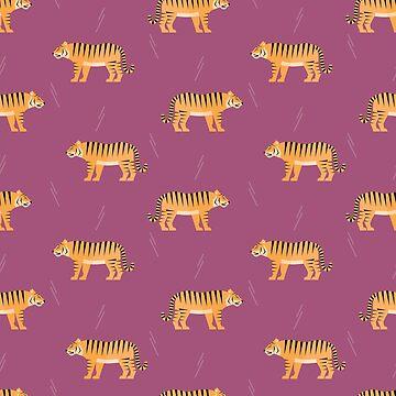 Tigers on purple by reneesillus