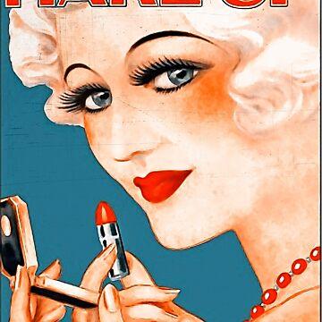 Anuncio de la barra de labios de 1920. de NoraMohammed
