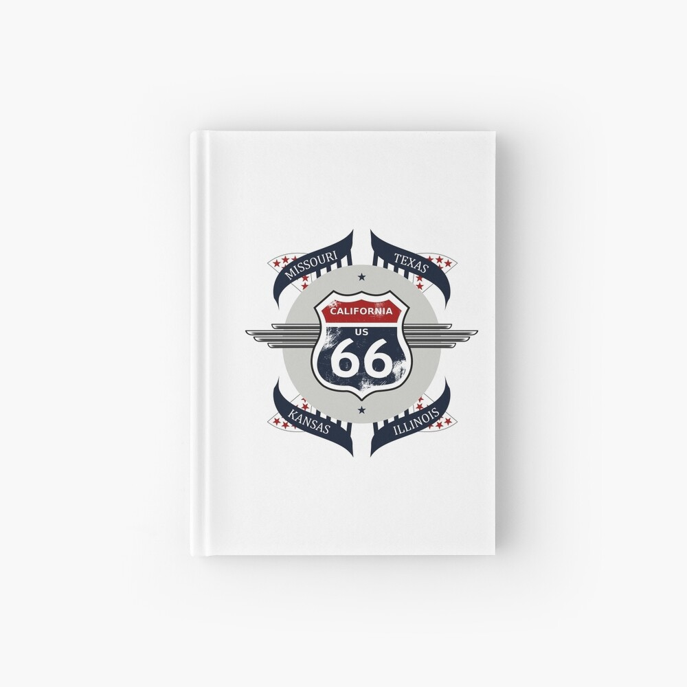 Route 66 my new version Hardcover Journal