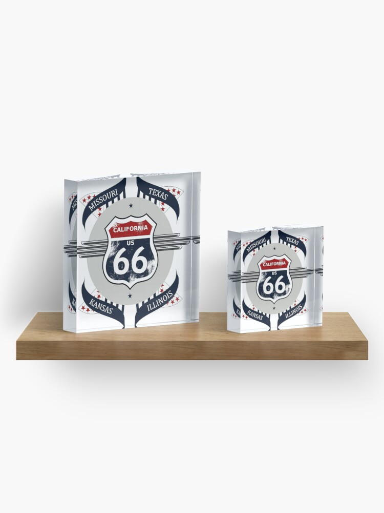 Alternate view of Route 66 my new version Acrylic Block
