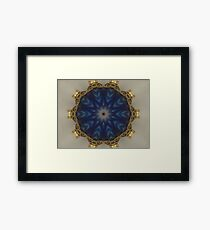 Blue Bead Kaleidoscope Framed Print