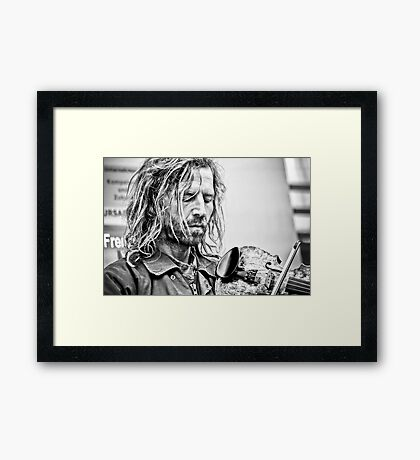 One True Love...his music Framed Print
