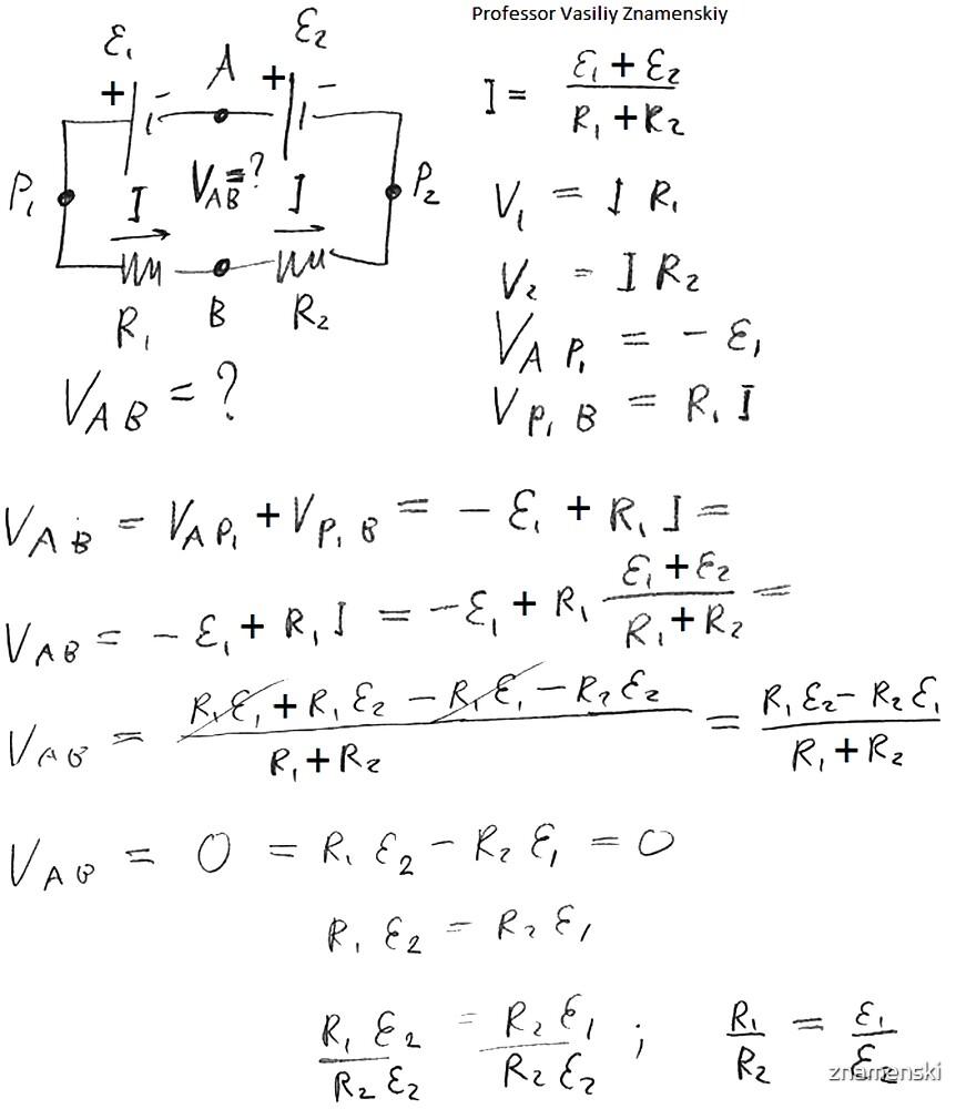 Physics Problem and Solution by znamenski