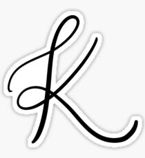 Calligraphy Art Alphabet Stickers Redbubble