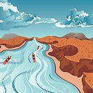Rafting auf dem Bergfluss von AnnArtshock