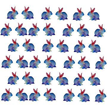 Conejos Acuarela de Manitarka