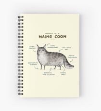 Anatomy of a Maine Coon Spiral Notebook