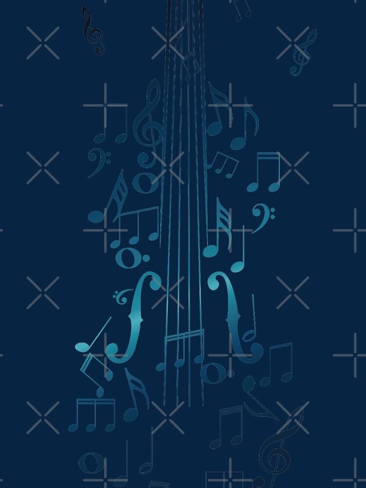 Blaue Violine mit Noten von AnnArtshock