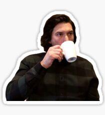 Adam Driver Sipping Tea/Coffee Meme Sticker
