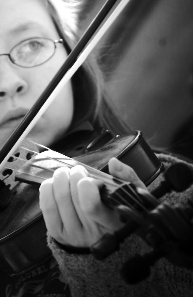Rest Stop Violinist by Jeanne Sheridan