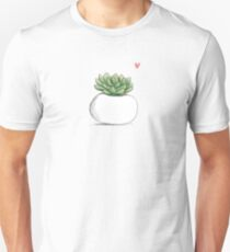 Succulent in Plump White Planter Unisex T-Shirt