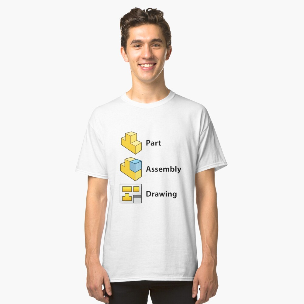 3D Cad/Cam/Cae Solid Works | White Version Classic T-Shirt