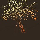Bright Autumn tree by JRon