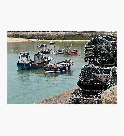 Boats & Pots Photographic Print