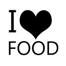 I Heart Food, I Love Food by tribbledesign