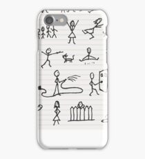 People in motions iPhone Case/Skin