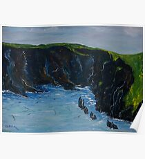 Cape Clare island windward side Poster