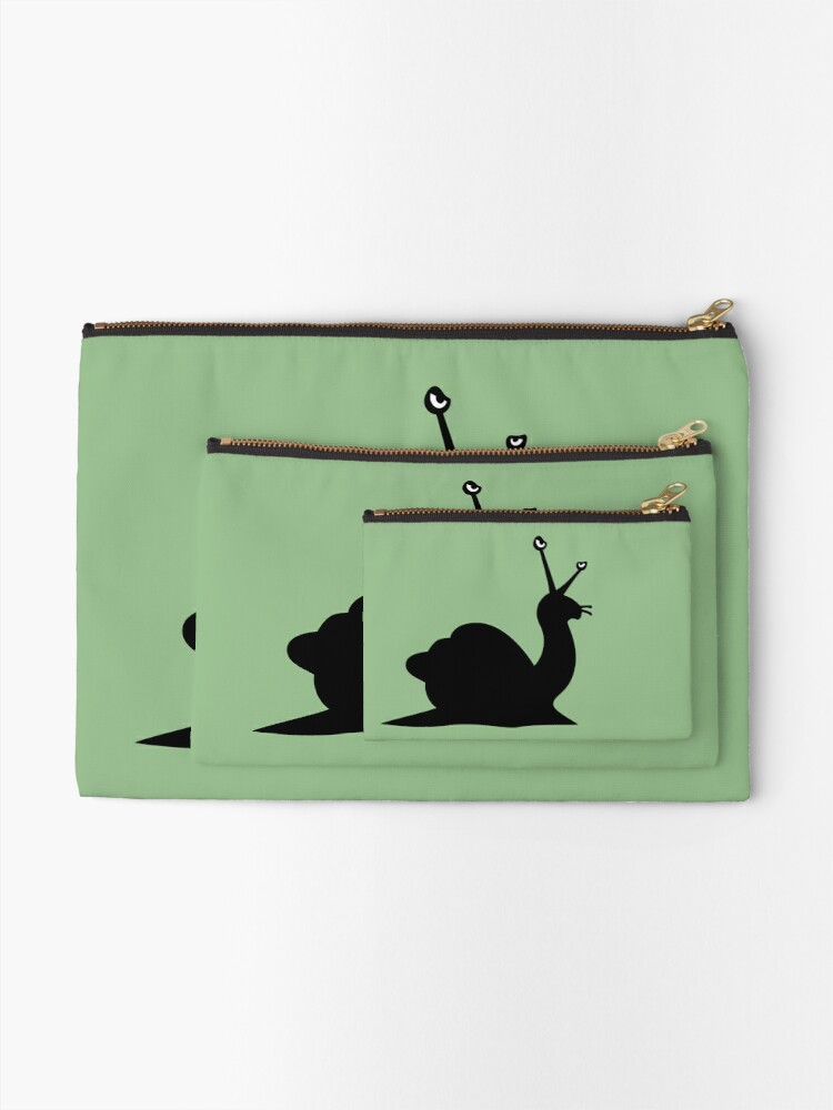 Alternate view of Angry Animals - Snail Zipper Pouch