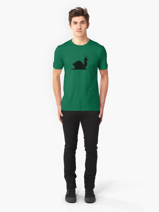Alternate view of Angry Animals - Snail Slim Fit T-Shirt