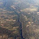 Portugal / Spain Aerial image of Parque Natural do Tejo Internacional, International Tagus Natural Park with the River Tagus forming the border between Portugal and Spain by stuwdamdorp