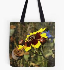 Colored Pencil Poppies Tote Bag