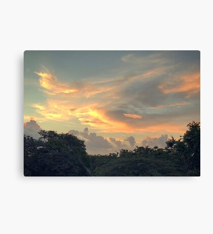 Playa del Carmen Sunrise (Pictures of Mexico) Canvas Print