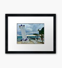 Puerto Morelos Lighthouse (Pictures of Mexico) Framed Print