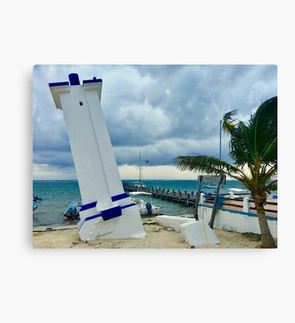 Puerto Morelos Lighthouse (Pictures of Mexico) Canvas Print