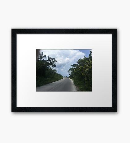 Road in Cozumel (Pictures of Mexico) Framed Print