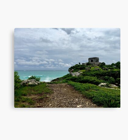 Tulum Ruins (Pictures of Mexico) Canvas Print
