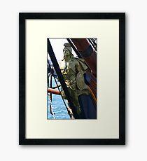 FIGUREHEAD HMS SURPRISE Framed Print