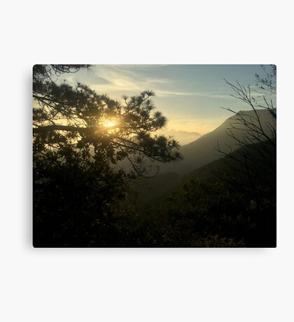 Sunrise in Monterrey (Pictures of Mexico) Canvas Print