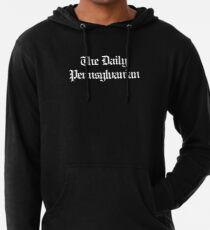 The DP Multi-line White Wordmark Lightweight Hoodie