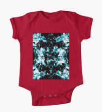 Electrifying blue sparkly triangle flames One Piece - Short Sleeve