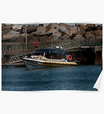 Semi-rigid hulled inflatable boat Poster