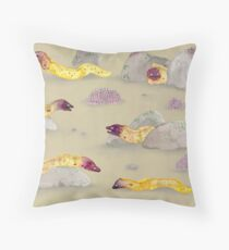 White-eyed Moray Eels Throw Pillow