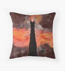 The Tower of Sauron Throw Pillow