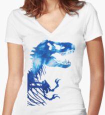 Tie-Dye Rex Women's Fitted V-Neck T-Shirt