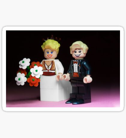 Lego Bride and Groom Sticker
