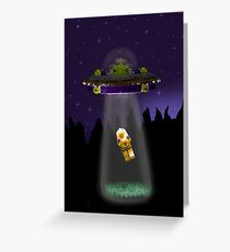 Lego Alien Abduction Greeting Card