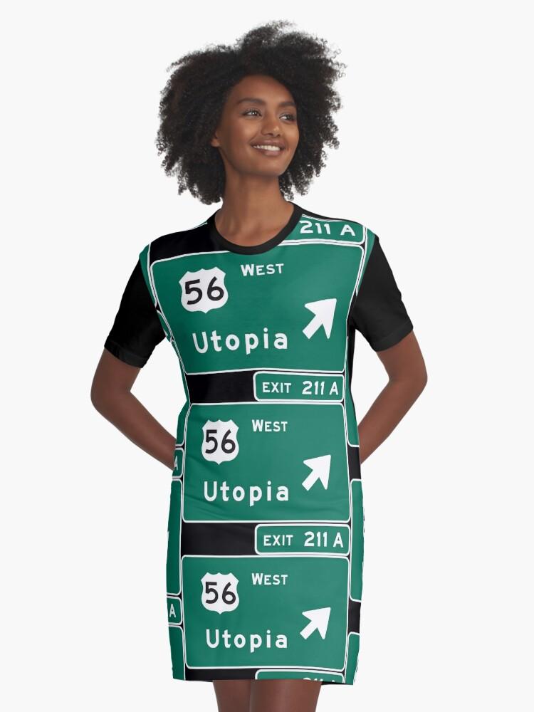 A Tonbbo Camiseta 'bienvenido De Vestido Utopía' zMSpUV