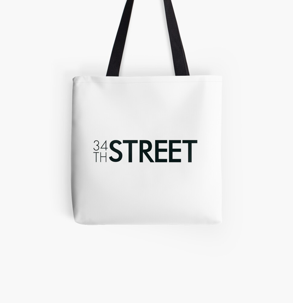 34th Street Magazine Black Logo All Over Print Tote Bag