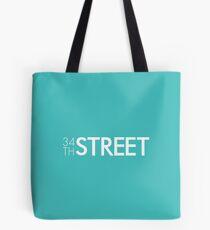 34th Street Magazine White Logo Tote Bag