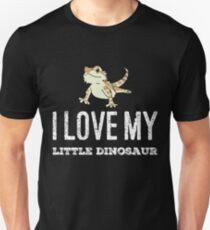 Ich liebe meinen kleinen Dinosaurier Slim Fit T-Shirt