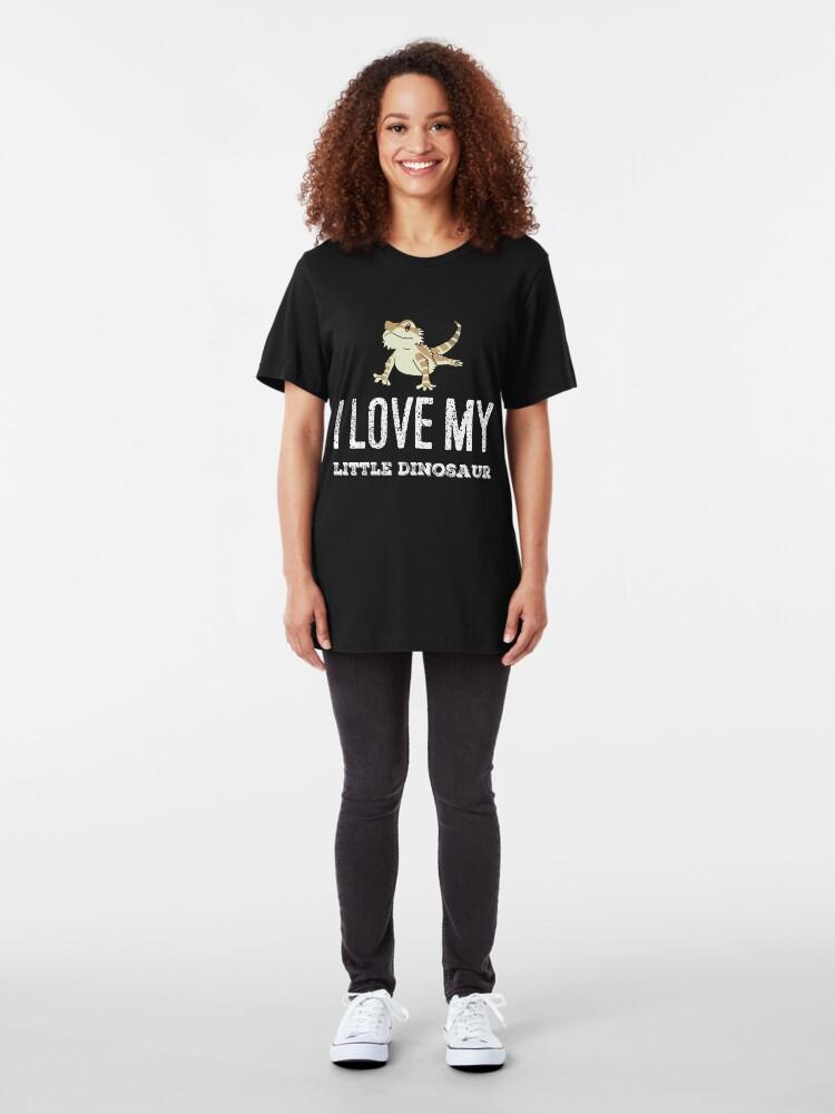 Alternative Ansicht von Ich liebe meinen kleinen Dinosaurier Slim Fit T-Shirt